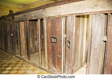 Khmer Rouge Prison Cells - This is the actual tiny prison...