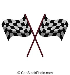 crossed flag start racing design