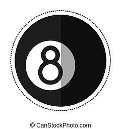 cartoon billiard ball  eight vector illustration eps 10