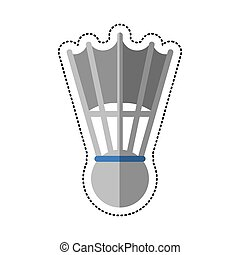 cartoon badminton shuttlecock sport vector illustration eps...