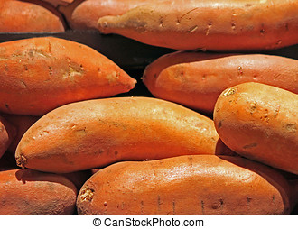 Sweet Potatoes for Sale at the Market