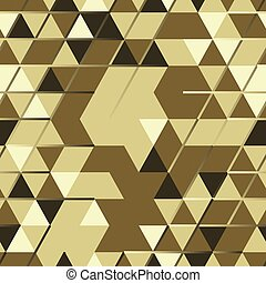 Khaki seamless pattern with triangular protection ornament...