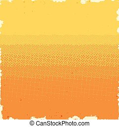 Halftone background with dirty grungy gradient of dots