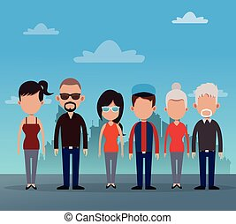 group people community social vector illustration eps 10