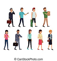 group people society standing vector illustration eps 10