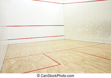 Squash court - Empty squash court ready to play