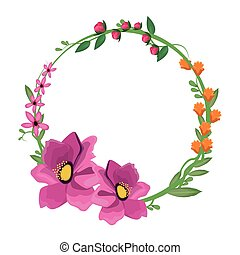 flower anemone crown decoration vector illustration eps 10