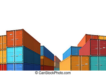 export import cargo containers bulk isolated 3d illustration...