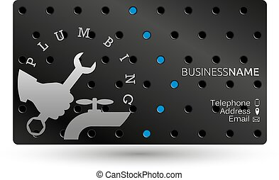 Business card repair plumbing - Business card repair of...