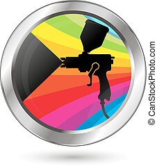 Paint sprayer symbol for coloring