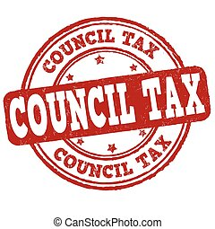 Free product stamp - Council tax grunge rubber stamp on...