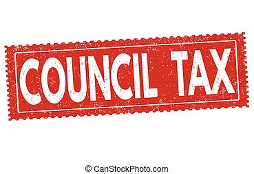 vcdgtrjytd.eps - Council tax grunge rubber stamp on white...