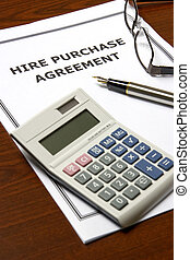 Hire Purchase Agreement - Image of a hire purchase agreement...