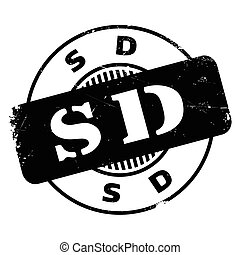 Sd rubber stamp. Grunge design with dust scratches. Effects...