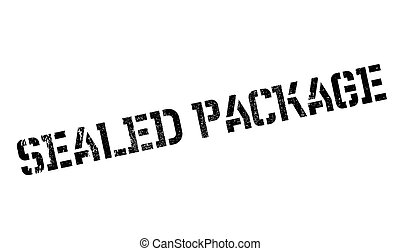 Sealed Package rubber stamp. Grunge design with dust...