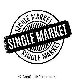 Single Market rubber stamp. Grunge design with dust...
