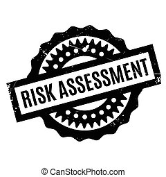 Risk Assessment rubber stamp. Grunge design with dust...