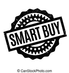 Smart Buy rubber stamp. Grunge design with dust scratches....