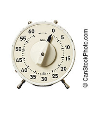 Retro timer isolated on a white background