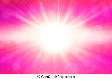 Pink blast - Abstract pink blast of light background