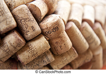 Cork plugs - Many cork plugs in a row