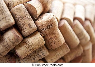 Cork plugs - Many cork plugs in a row
