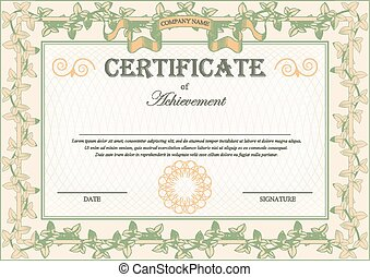 Vintage Certificate Ornament Frame Bindweed Ivy