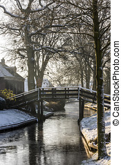 Winter with Trees in Giethoorn