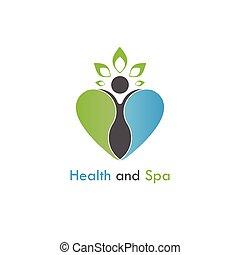 Health & spa vector logo design template.Healthcare &...