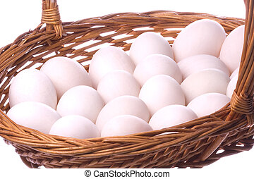 Duck Eggs Isolated - Isolated image of duck eggs