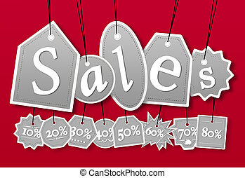 Concept of sales label for seasonal promotion