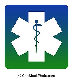 Medical symbol of the Emergency or Star of Life. Vector....
