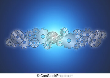 Gear wheel concept isolated on background - Technology...