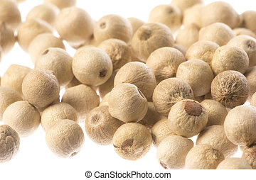 White Pepper Macro Isolated