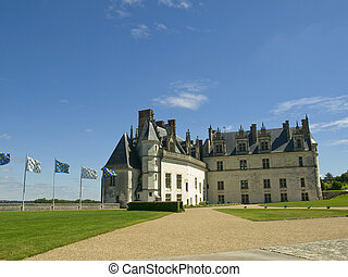 Amboise Castle - Panoramic view of Amboise Castle, one of...