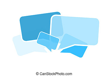 Cloud of message icons isolated on a background - Internet...