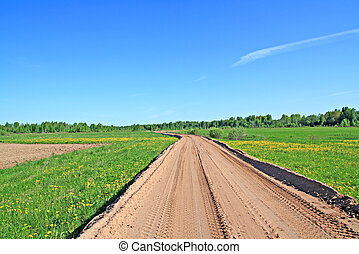 rural sandy road