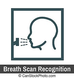 Biometric Scanning GraphicBreath Scan Recognition -...
