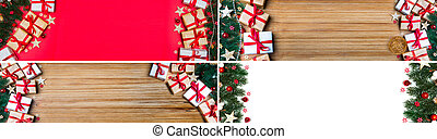 Collection of Christmas background with christmas balls,...