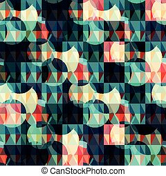 abstract psychedelic geometric pattern vector illustration