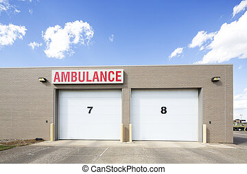 Parking Area Of Ambulance