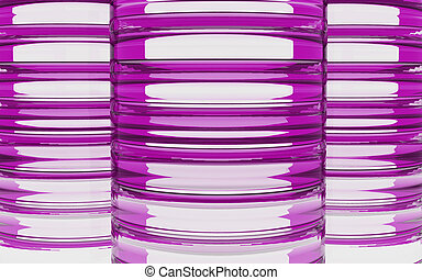 Cylinder pink glass material background - Cylinder glass...