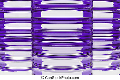 Cylinder purple glass material background - Cylinder glass...