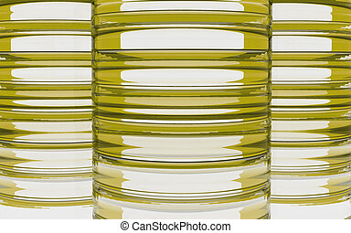 Cylinder yellow glass material background - Cylinder glass...