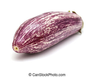 stripy eggplant isolated - stripy white and purple eggplant...