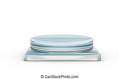 base of glass stand for products display by 3D rendering