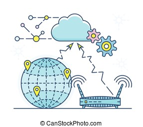 Personal Cloud vector illustration