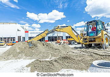 Excavator's tool, front bucket, blade, detail - Zrenjanin,...
