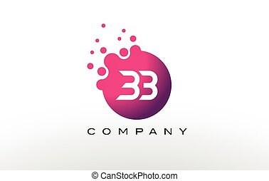 BB Letter Dots Logo Design with Creative Trendy Bubbles. -...