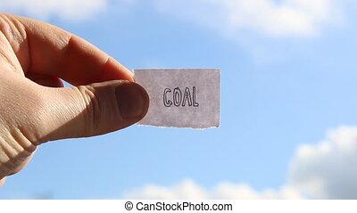 goal idea, tag with inscription - goal idea, tag with the...